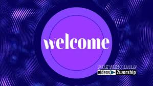 Welcome Purple Welcome To Worship Church Welcome Backgrounds Videos2worship