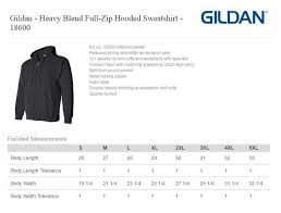Gildan 18500 Size Chart Pks Kids Sizes
