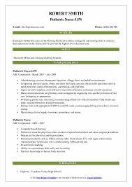 Lpn Charting Examples Pediatric Nurse Resume Samples Qwikresume