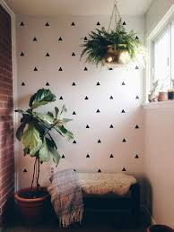 diy room decor walls 2016 diamond cut outs triangle wall ideas geometric pai on decorating with