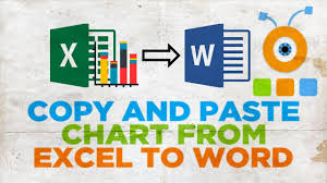 How To Copy And Paste A Chart From Excel To Word