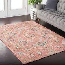 indoor area rug karolina pale pink 8 ft x 10 ft indoor area rug