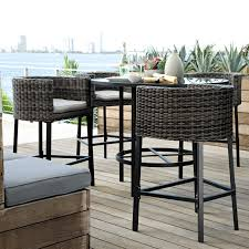 image of bar height patio table