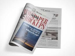 Public Newsletter Tabloid Cover Paper Psd Mockup Psd Mockups