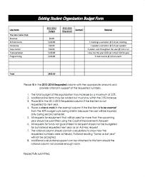 Consultant Budget Template Nonprofit Operating Organization