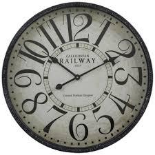whitewash plank wood wall clock