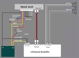 amp and sub wiring diagram how to wire a 4 channel amp to 4 speakers and a sub at Wiring Diagram For Amp