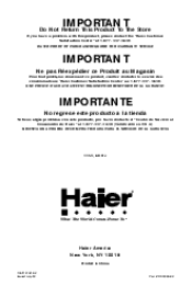 haier rrtwvabw manual haier rrtw18vabw product manual