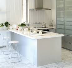 White Kitchen Tile Floor Modern Small Breakfast Bar White Cushioned Metal Bar Stool White
