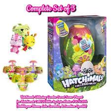 set of 3 hatchimals secret scene playset bubblegum bloom lala lavender sunshine sparkle