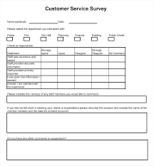 Customer Service Survey Template Free Customer Service Questionnaire Template Customer Service Survey