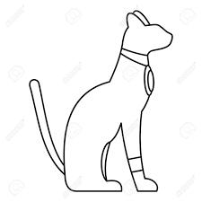 エジプトの猫のアイコンシンプルなスタイル
