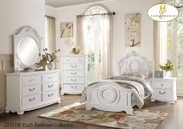 Captivating 2039TW Youth Traditional Lucida Twin Bedroom Set White Or Cherry Finish