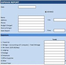 Travel Expense Form Template Excel Images - Template Design Free ...