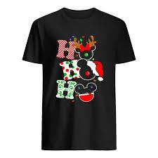 Ho Ho Ho Merry Christmas Disney Mickey Shirt Trend T Shirt