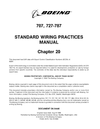 standard wiring practices manual standard boeing 707 727 787 standard wiring practices manual loose leaf on standard wiring practices manual