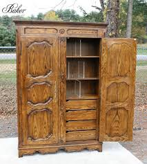 stunning baker furniture country french oak armoire wardrobe cabinet 1 of 12 see more