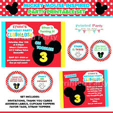 Mickey Mouse Party Printables Free Birthday Thank You Labels Printable Mickey Mouse Party Stickers Free