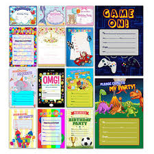 kids birthday party invitations x 20 childrens kids birthday party invitations invites blank