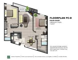 Floorplan PC D Floorplan PC D By Palm Court Apartments In Los Angeles CA