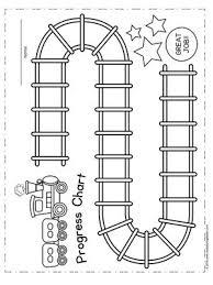 Student Train Progress Chart Reward Chart Kids Behavior
