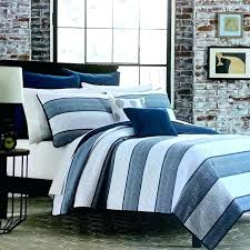 blue and white striped bedding striped bedding sets quilt blue and white cabana stripes with navy