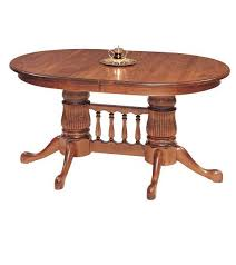 amish double pedestal dining room table by dutchcrafters rh dutchcrafters com amish oak pedestal tables amish double pedestal dining table