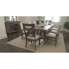 dining room tables with upholstered chairs. omaha gray rectangular table \u0026 4 upholstered chairs dining room tables with t
