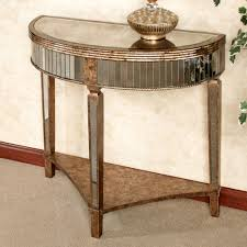 entryway table and mirror. Classt Classic Mirrored Metal Half Moon Entryway Table On Granite Tile Floor And Mirror