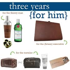 just off square leather gift guide three year anniversary