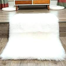small sheepskin rugs faux fur rug white soft fluffy cm gy inside plan for chair