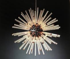 glass rods sputnik chandelier