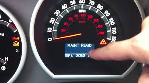 Turn Off Maintenance Light Toyota Highlander 2007 2000 2017 Toyota Tundra Maintenance Light Reset