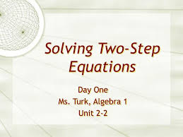 ppt solving two step equations