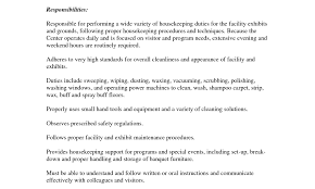 Resume For Housekeeping Position Chaplain Assistant Cover Letter