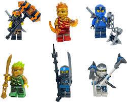 LEGO Ninjago Forbidden Spinjitzu Combo Pack (with weapons) - Lloyd Zane Jay  Nya Cole Kai - Walmart.com