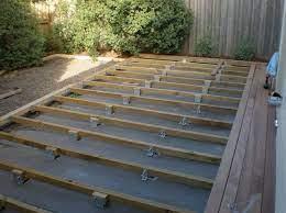 deck over concrete slab outdoor