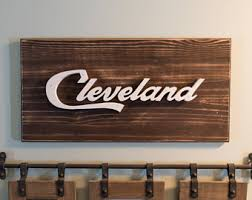 more colors cleveland script wall art  on cleveland metal wall art with cleveland art etsy