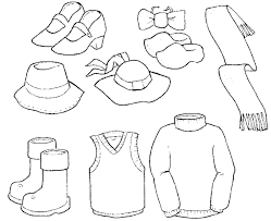 Small Picture Clothing Coloring Pages Coloring Pages In Spanish Clothing