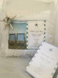 Wedding Invitation With Photo Florida Beach Personalized Wedding Invitation Pillow