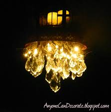 if you want to make your own chandelier you can get the led lights on at this link battery operated led string lights