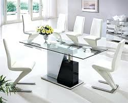 glass dining tables view in gallery glass top round dining table nz