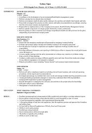 Safety Officer Resume Sample Ehs Officer Resume Samples Velvet Jobs
