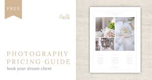 Photography Pricing Template Free Pricing Guide Template Design For Wedding Photographers The
