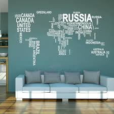 large world map nice wall sticker large