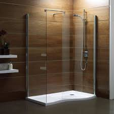Bathroom:Magnificient Curved Walk In Shower With Wooden Wall Ideas  Decorating the best open shower