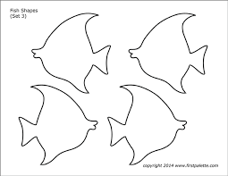 This free printable coloring page came from a vintage coloring book, probably circa 1950's, but no copyright in the book. Fish Shapes Free Printable Templates Coloring Pages Firstpalette Com
