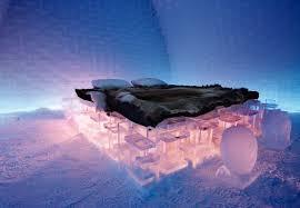 amazing lighting for icehotel bedroom at amazing icehotel design in jukkasjrvi small village in norrbotten amazing lighting