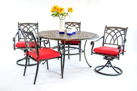 Hanamint Bella Dining Set 54 Inch Round Table Swivel Chair