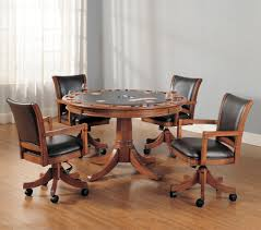 Hillsdale Park View Five Piece Gaming Lift Top Table And Chair Set